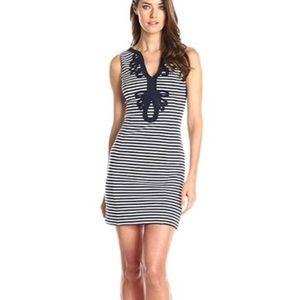 Lilly Pulitzer Janice Striped Dress - navy